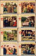 """Movie Posters:Comedy, Comin' Round the Mountain (Paramount, 1940). Fine/Very Fine. Lobby Card Set of 8 (11"""" X 14""""). Comedy.. ... (Total: 8 Items)"""