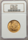 Indian Eagles: , 1926 $10 MS63 NGC. NGC Census: (15722/5243). PCGS Population: (14013/4728). MS63. Mintage 1,014,000. ...