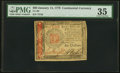 Continental Currency January 14, 1779 $60 PMG Choice Very Fine 35