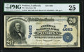 National Bank Notes:California, Pomona, CA - $20 1902 Date Back Fr. 646 The American NB Ch. # (P)4663 PMG Very Fine 25.. ...