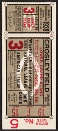 Baseball Collectibles:Tickets, 1939 World Series Game 3 Ticket Stub....