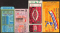 Baseball Collectibles:Tickets, 1940-47 World Series & All-Star Game Ticket Stub Lot of 4....