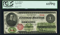 Large Size:Legal Tender Notes, Fr. 17a $1 1862 Legal Tender PCGS New 61PPQ.. ...
