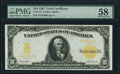 Fr. 1172 $10 1907 Gold Certificate PMG Choice About Unc 58