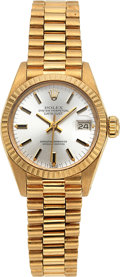 Estate Jewelry:Watches, Rolex Lady's Gold Oyster Perpetual DateJust Watch, Circa 1981. ...