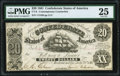 Confederate Notes:1861 Issues, CT9/29B Counterfeit $20 1861 PMG Very Fine 25.. ...