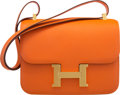 "Luxury Accessories:Bags, Hermès 23cm Orange H Epsom Leather Constance Bag with Gold Hardware. R Square, 2014. Condition: 1. 9"" Width x 7.5""..."