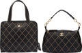 Luxury Accessories:Bags, Chanel Set of Two: Black Calfskin Leather Wild Stitch Shoulder Bag & Tote Bag. Condition: 2. See Extended Condition Re... (Total: 2 )