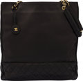 Luxury Accessories:Bags, Chanel Black Lambskin Leather Tote BagCondi...