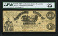 CT13/57-1 $100 1861 Contemporary Counterfeit PMG Very Fine 25