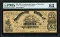 CT18 /107 $20 1861 Contemporary Counterfeit PMG Choice Uncirculated 63