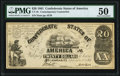 CT18/129B $20 1861 Contemporary Counterfeit PMG About Uncirculated 50