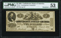 Confederate Notes:1862 Issues, CT42/334 $2 1862 Contemporary Counterfeit PMG About Uncirculated 53 Remainder.. ...