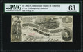 CT44/339 $1 1862 Contemporary Counterfeit PMG Choice Uncirculated 63