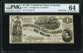 CT44 $1 1862 Contemporary Counterfeit PMG Choice Uncirculated 64 Remainder