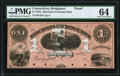 Obsoletes By State:Connecticut, Bridgeport, CT- Merchants Exchange Bank $1 18__ G2a Proof PMG Choice Uncirculated 64.. ...