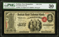 National Bank Notes:New Hampshire, Nashua, NH - $1 Original Fr. 380a The Indian Head NB Ch. # 1310 PMG Very Fine 30.. ...