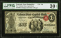 Concord, NH - $1 Original Fr. 380 The National State Capital Bank Ch. # 758 PMG Very Fine 30 EPQ.</