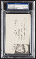 Autographs:Index Cards, 1932 Al Simmons Signed Index Card, PSA/DNA NM-MT 8....