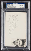 Autographs:Index Cards, 1932 Kiki Cuyler Signed Index Card, PSA/DNA NM-MT 8....