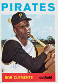 Baseball Collectibles:Others, Signed 1964 Topps Roberto Clemente #440 Card. ...