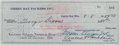 Autographs:Checks, 1959 Vince Lombardi Signed Green Bay Packers Check....