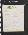 Autographs:Letters, 1940 Green Bay Packers Team Signed Letterhead....