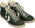 Basketball Collectibles:Others, Circa 1983 Robert Parish Game Worn & Signed Boston Celtics Sneakers....