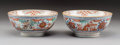 Ceramics & Porcelain, A Pair of Chinese Export Enameled Porcelain Cherry Picker Bowls, Qing Dynasty. 2-3/4 x 5-7/8 inches (7.0 x 14.9 ... (Total: 2 Items)
