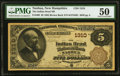 Nashua, NH - $5 1882 Brown Back Fr. 468 The Indian Head NB Ch. # 1310 PMG About Uncirculated 50