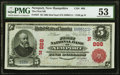 National Bank Notes:New Hampshire, Newport, NH - $5 1902 Red Seal Fr. 587 The First NB Ch. # (N)888 PMG About Uncirculated 53.. ...