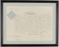 Autographs:Letters, 1873 Queen Victoria Signed Framed Militia Discharge....