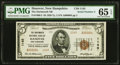Hanover, NH - $5 1929 Ty. 2 The Dartmouth NB Ch. # 1145 PMG Gem Uncirculated 65 EPQ