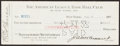 Autographs:Checks, 1927 Ruppert & Barrow Dual-Signed New York Yankees Check.