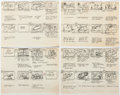 Animation Art:Production Drawing, Fantastic Four Storyboard Drawings and Scripts group of 4 (Hanna-Barbera, 1967). ... (Total: 4 Items)
