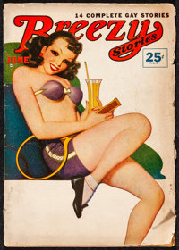 """Breezy Stories & Other Lot (Phil Painter, 1948). Overall: Fine/Very Fine. Magazines (3) (Multiple Pages, 7"""" X 9..."""