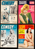 """Movie Posters:Sexploitation, Comedy & Other Lot (Humorama, 1954). Overall: Very Fine-. Magazines (4) (Multiple Pages, Approx. 5.5"""" X 7.5""""). Sexploitation... (Total: 4 Items)"""
