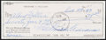 Autographs:Checks, 1983 Ted Williams Signed Check....
