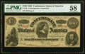 Confederate Notes:1863 Issues, CT56/403A $100 1863 Contemporary Counterfeit PMG Choice About Unc 58.. ...