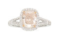 Estate Jewelry:Rings, Colored Diamond, Diamond, Platinum, Gold Ring . ...
