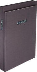 Books:Fine Press & Book Arts, [Limited Editions Club]. Cavafy. A Tribute to Cavafy. A Selection of Poems with Photogravures by Duane Michals and...