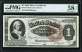 Large Size:Silver Certificates, Fr. 219 $1 1886 Silver Certificate PMG Choice About Unc 58 EPQ.. ...