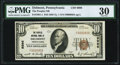 National Bank Notes:Pennsylvania, Delmont, PA - $10 1929 Ty. 1 The Peoples NB Ch. # 9996 PMG Very Fine 30.. ...