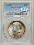 Kennedy Half Dollars, 1964-D 50C MS67+ PCGS....