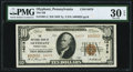 National Bank Notes:Pennsylvania, Olyphant, PA - $10 1929 Ty. 2 The NB Ch. # 14079 PMG Very Fine 30 EPQ.. ...