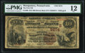 National Bank Notes:Pennsylvania, Montgomery, PA - $10 1882 Brown Back Fr. 490 The First NB Ch. # (E)5574 PMG Fine 12.. ...
