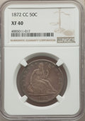 Seated Half Dollars, 1872-CC 50C WB-101, Die Pair 5, R.4, XF40 NGC....
