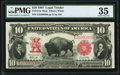 Large Size:Legal Tender Notes, Fr. 121 $10 1901 Mule Legal Tender PMG Choice Very Fine 35.. ...