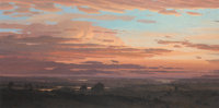 David Caton (American, b. 1955) Sunrise in the Lowlands Oil on canvas 32 x 64 inches (81.3 x 162