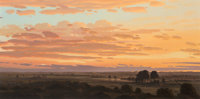 David Caton (American, b. 1955) Sunset in the Lowlands Oil on canvas 32 x 64 inches (81.3 x 162.6